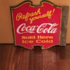 VINTAGE COCA COLA DOUBLE SIDED PORCELAIN SIGN!