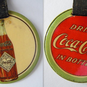 c. 1912 Coca-Cola Straight Sided Bottle Watch Fob - Coca-Cola