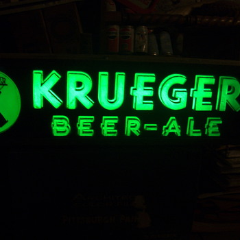 Krueger light lit up - Signs