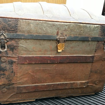 Vintage Steamer Trunk  - Furniture