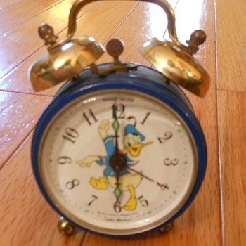 Phinney Walker Disney Donald Duck Alarm Clock for 1969 - Clocks