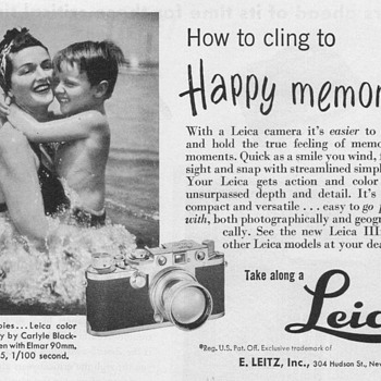 1951 - Leica Camera Advertisements - Advertising