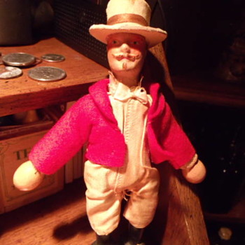 Schonhut reduced size ringmaster circus doll.