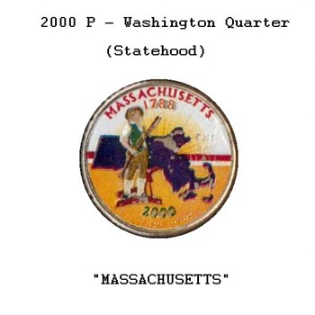 Massachusetts Painted Statehood Quarter
