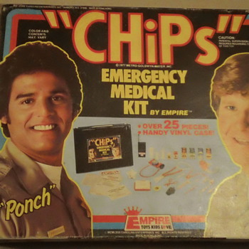 "VINTAGE 1977 ""CHiPs"" EMERGENCY MEDICAL KIT  SEAL AND MINT"