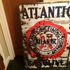 1930's Atlantic Gasoline porcelain sign