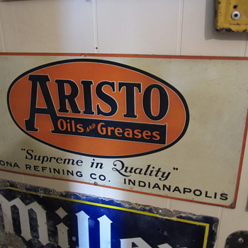 Vintage single sided tin Aristo sign - Advertising