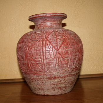 "Red Clay Pot 9.5"" - Native American"