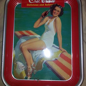 Coca-Cola Trays & Service Pin - Coca-Cola