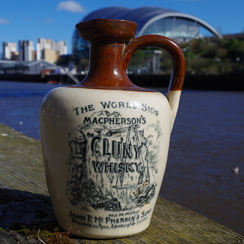 MACPHERSON'S CLUNY WHISKY JUG/CROCK NEWCASTLE