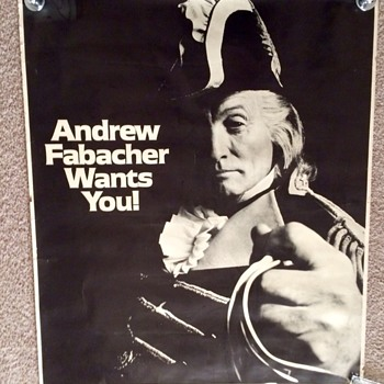 "JAX BEER ""Andrew Fabacher Wants you"" Advertising Poster 1960's - Breweriana"