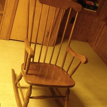 Unidentified rocking chair.  At least 30 years old.