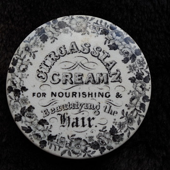 EARLY CIRCASSIAN CREAM POT LID
