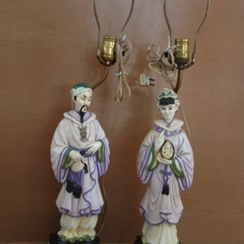 Oriental Lamps man and lady