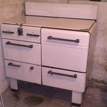 Sears, Roebuck and Co. Prosperity 4 burner gas range - Art Deco style?