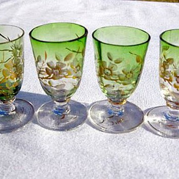 Moser Glass Cordials - Art Glass
