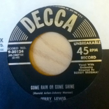 Jerry Lewis 45 Record