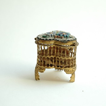 antique  venetian micromosaic jewelry box