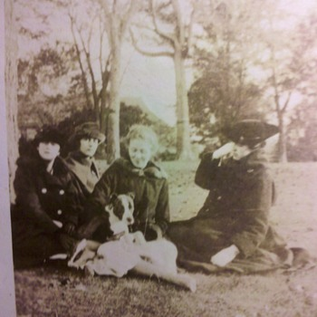 1914 ladies and their Pit Bull - Photographs