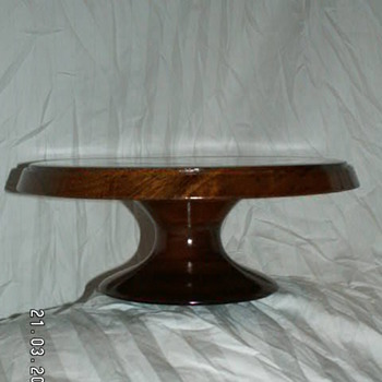 Vintage Solid Walnut Pedestal/Cake Stand - Kitchen