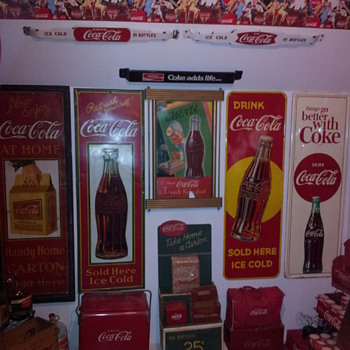1930's Coca-Cola CARDBOARD Display!!!! - Coca-Cola