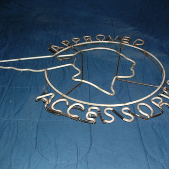 Old Vintage Rare Pontiac Indian Head Neon Sign Approved Accessories - Signs