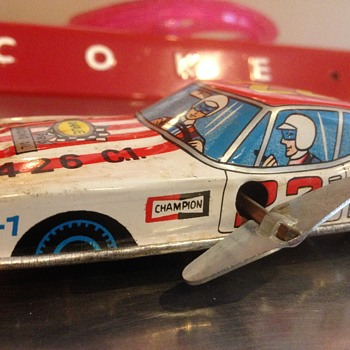 1970's Rare Coca Cola racing wind-up car - Coca-Cola