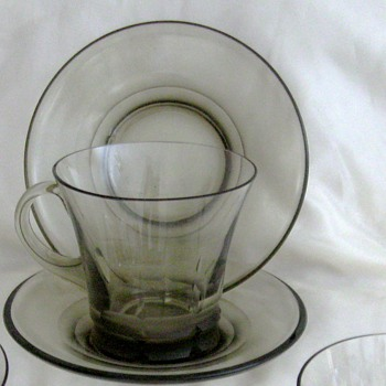 Elegant cut glass espresso? hot toddy cup and saucer