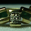 Vintage 10k Emerald Ring