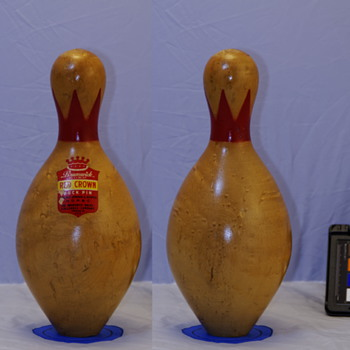 Brunswick Red Crown Duckpin, Natural Finish