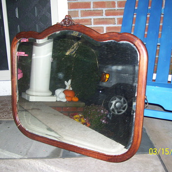 mirror beveled solid wood