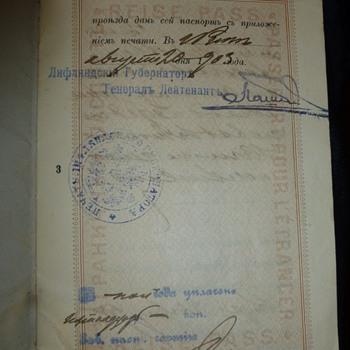 1903 Passport - Paper