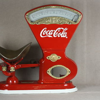 #4 decaled coca cola toledo scale