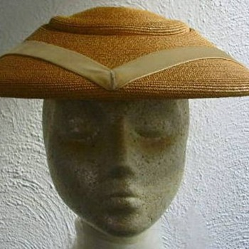 1950s Natural Straw Hat - Hats