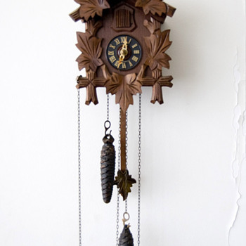 Antique 1950's German Hubert Herr cuckoo clock.