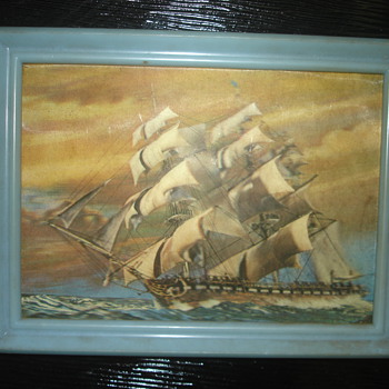 3D POSTCARD OF A SHIP MADE IN WONDER CO., TOYKO JAPAN