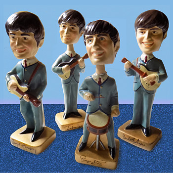 "Beatles 1964 Composition 8"" Nodders / Car Mascots"