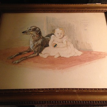 1880 drawing? Michael and Bessie - Visual Art