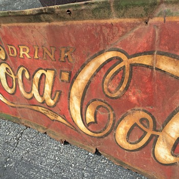 My Coca Cola sign after mildly cleaning it