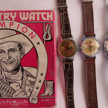 The Different Round Variant Of Gene Autry Wristwatches