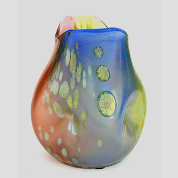 A Loetz PG 299 tricolor vase - Art Glass