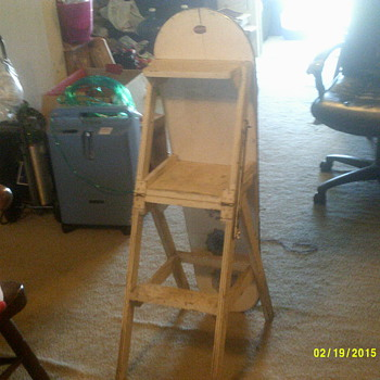 Jefferson chair / ironing board / ladder, Fort Massac Chair Company