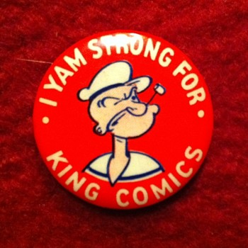 King Features Syndicate pinback premium