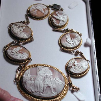Fabulous long cameo necklace