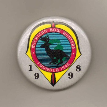 1998 - Michigan Bow Hunters Assoc. Pinback - Medals Pins and Badges