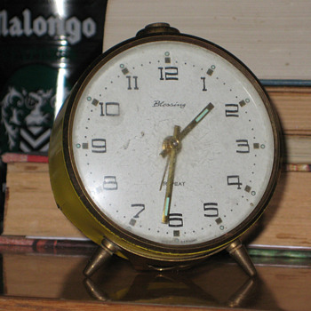 Antique 1950's German Blessing alarm clock.