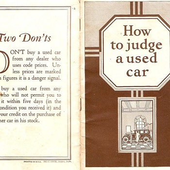 Studebaker~How To Judge a Used Car from 1929