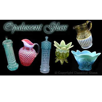 Victorian Opalescent Glass online Identification and Value Guide - Glassware