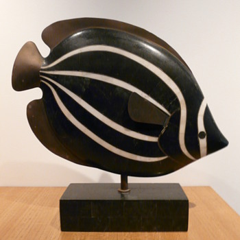 """Cicciu"" the Marble Butterfly Fish - Art Deco"