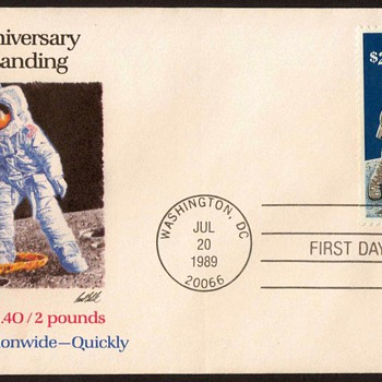 "1989 - ""Moon Landing"" Stamp First Day Cover - Stamps"